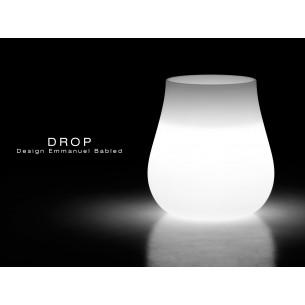 Vase lumineux DROP pour intérieur et extérieur éclairage neutre (blanc).