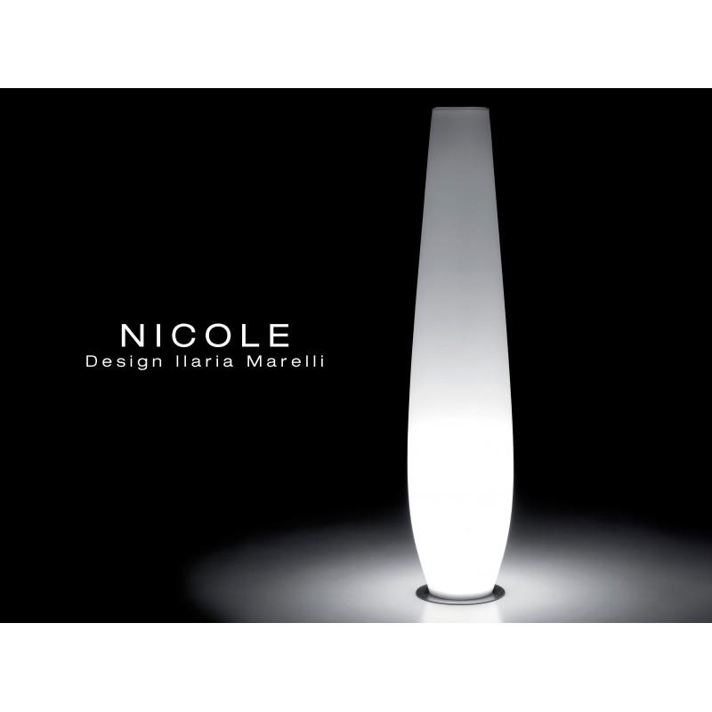Vase lumineux NICOLE pour intérieur et extérieur.