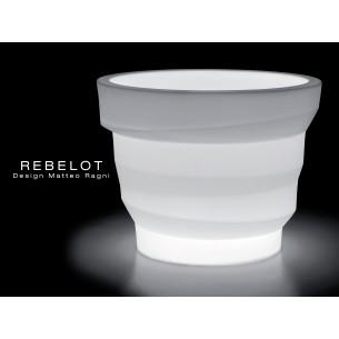 Vase lumineux REBELOT pour intérieur et extérieur.