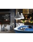 Lampe SPOT pour intérieur et extérieur blanc.