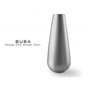 Vase BUBA pour intérieur et extérieur, couleur argent.