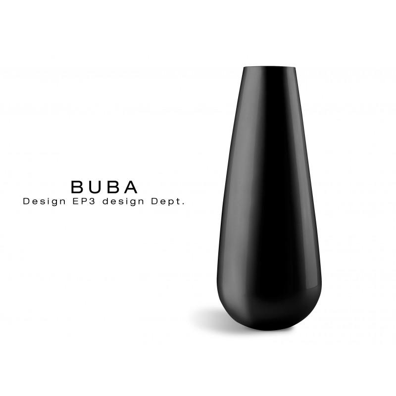 Vase BUBA pour intérieur et extérieur, couleur noir mat.