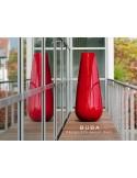 Vase BUBA pour intérieur et extérieur, couleur rouge laqué.