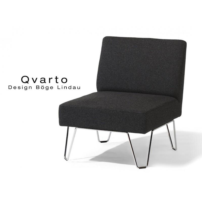 QVARTO canapé modulable ou fauteuil habillage gamme CAMIRA, tissu Xtrème couleur Andaman.