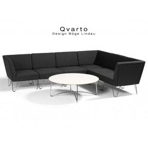 QVARTO canapé d'angle 6 modulables habillage gamme CAMIRA - tissu Xtrème couleur Andaman.