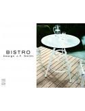 Lot de 2 tables BISTRO ronde au design rétro.