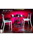 """Lot de 2 tables """"BISTRO"""" carré au design rétro."""