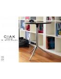 CIAK table ronde de bar en aluminium plateau fixe.