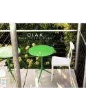 CIAK table ronde Ø60 cm plateau rabattable, piétement finition peinture.