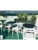 CIAK table ronde Ø60 cm plateau rabattable, piétement finition peinture noire.