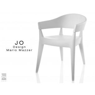 JO fauteuil en polypropylène - lot de 2 fauteuils blanc.