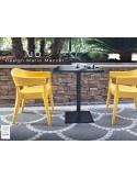 JO fauteuil en polypropylène - lot de 2 fauteuils jaune.