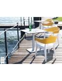 JO fauteuil en polypropylène - lot de 2 fauteuils blanc et jaune.