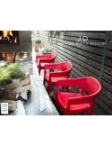 JO fauteuil en polypropylène - lot de 2 fauteuils rouge.