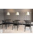 """Lot de 2 tables """"BISTRO"""" ronde au design rétro."""