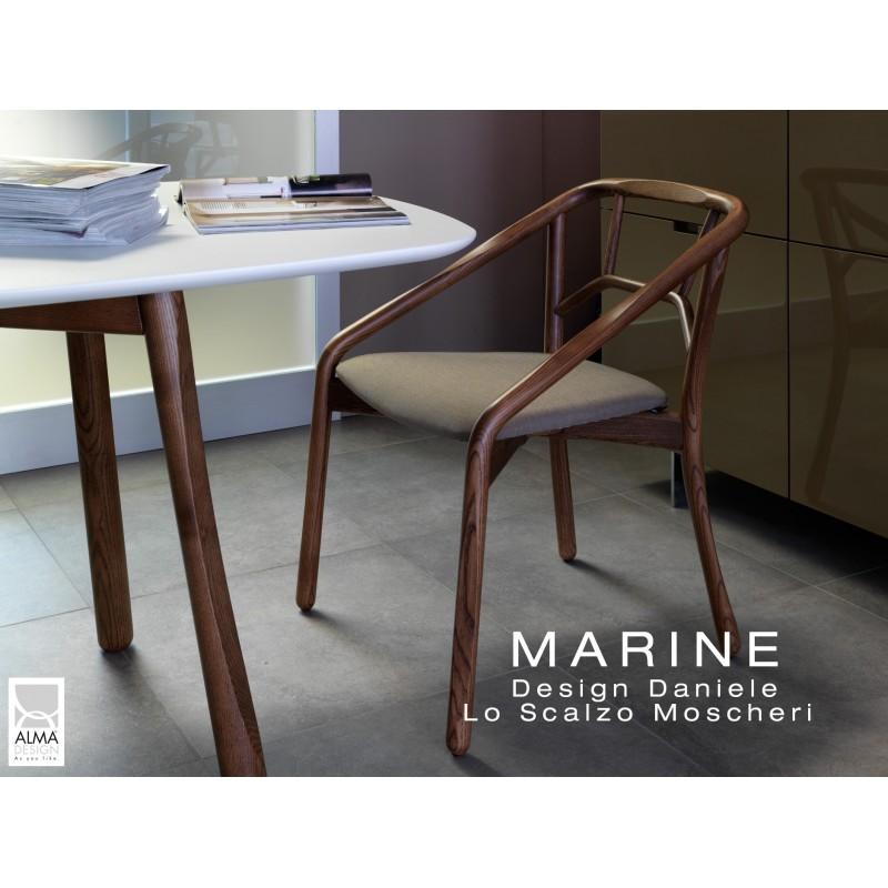 Table rectangulaire pour salle à manger MARINE piétement