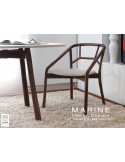 MARINE table rectangulaire piétement 4 pieds pour salle à manger