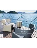 MEG fauteuil design en polyéthylène - lot de 3 fauteuils.