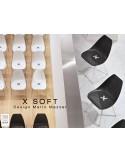 X-SPIDER chaise design coque piétement peinture polyester - lot de 4 chaises