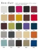 """X-SOFT chaise design assise capitonnée - Tissu """"Eco-cuir"""" couleur possible."""
