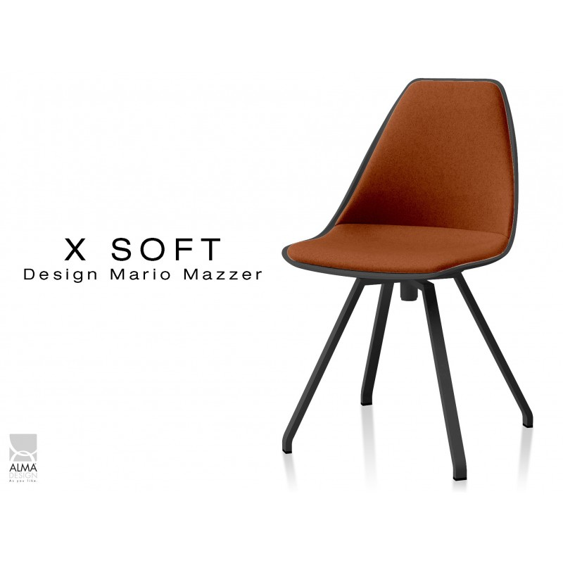 chaise de bureau pivotante x soft black assise et dossier. Black Bedroom Furniture Sets. Home Design Ideas