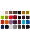 """X-SOFT BLACK habillage gamme """"Velours"""", couleur au choix sur demande, commande minimum."""