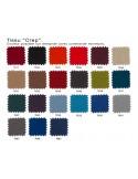 """X BIG-4 fauteuil lounge design - Gamme couleur habillage tissu """"Crep"""" au choix."""