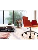 Fauteuil JOLLY-4 piétement avec roulettes et habillage tissu.