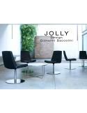 Fauteuil JOLLY-4 piétement acier chromé et habillage éco-cuir.