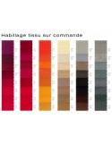 Fauteuil JOLLY roulette base aluminium et habillage gamme tissu au choix sur commande.