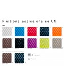 UNI chaise design palette couleur assise possible, au choix.