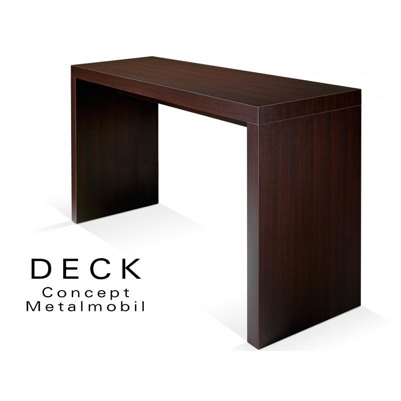 DECK table mange debout ou console d'appoint plaquage stratifié aspect Wengé.