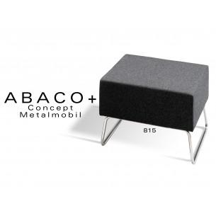 ABACO+ 815 - Tabouret d'appoint ou module de banquette, couleur noire.