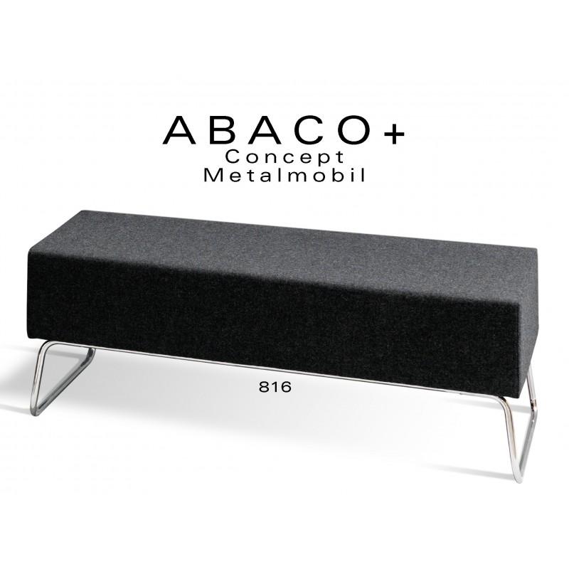 ABACO+ 816 - Banquette d'appoint ou simple module, couleur noire.