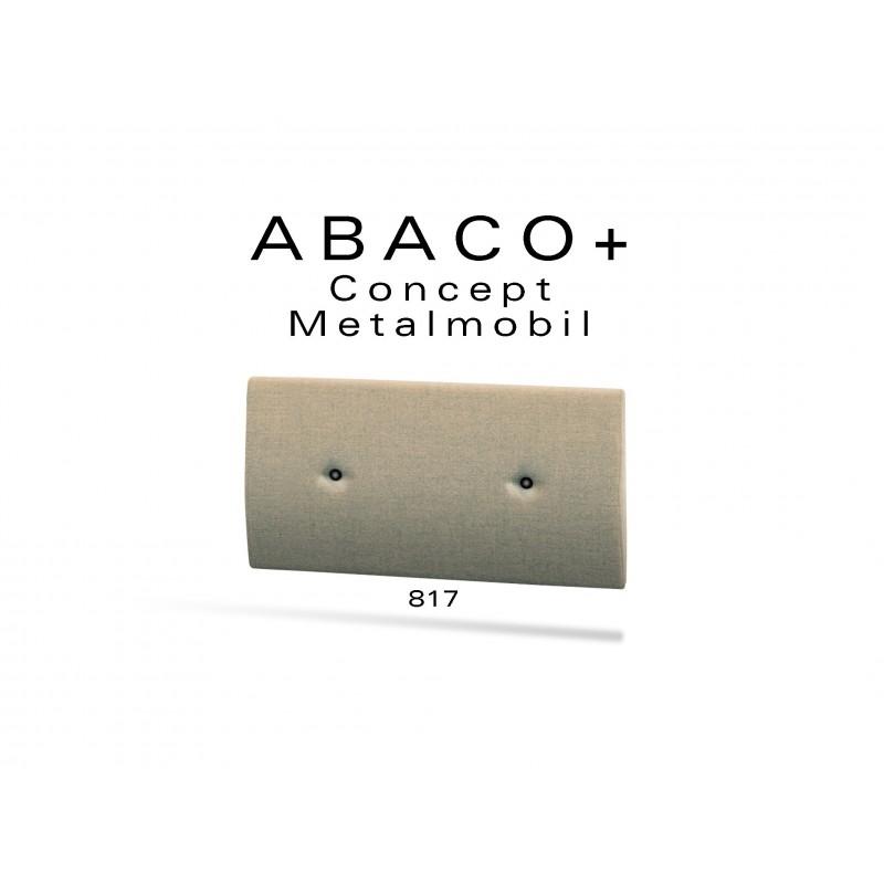 ABACO+ 817 - Module revêtement mural pour banquette ou fauteuil réf.: 812, couleur beige, boutons noir.