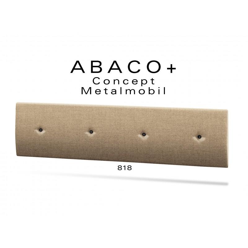 ABACO+ 818 - Module revêtement mural pour banquette réf.: 813, couleur beige, boutons noir.