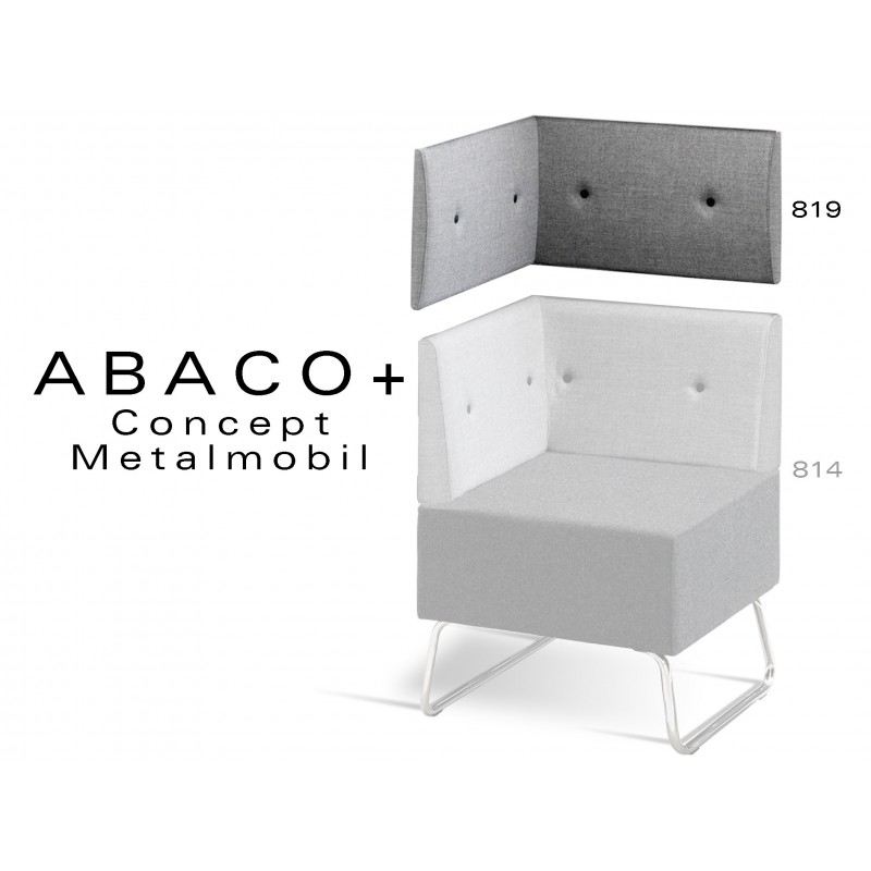 ABACO+ 819 - Module revêtement mural pour banquette ou fauteuil d'angle réf.: 814
