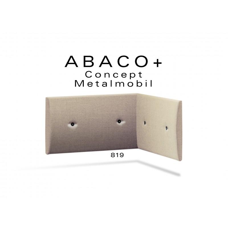 ABACO+ 819 - Module revêtement mural pour banquette ou fauteuil d'angle réf.: 814, couleur beige, boutons noir.