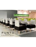PUNTO 228 - Module pour banquette ou fauteuil d'angle, salle de restauration, habillage aspect cuir.