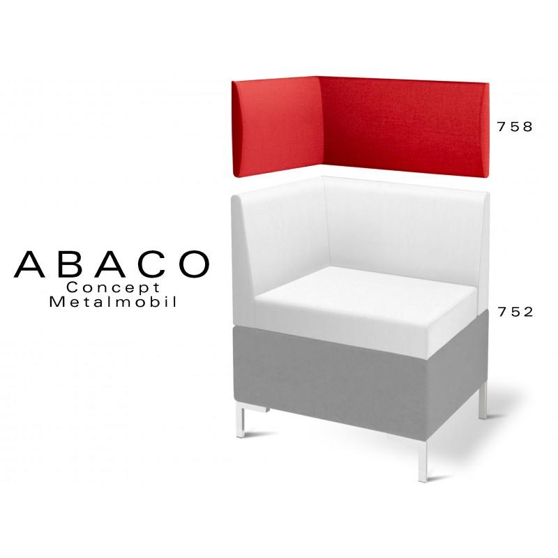ABACO 758 - Module revêtement mural rouge brique pour banquette ou fauteuil d'angle réf.: 752