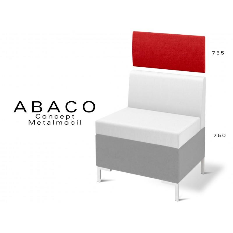 ABACO 755 - Module revêtement mural rouge pour banquette ou fauteuil réf.: 750