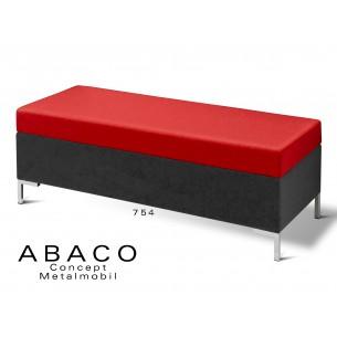 ABACO 754 - Banquette d'appoint ou simple module coussin assise rouge brique.