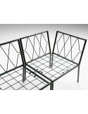 ZERO - Banquette ou fauteuil pour extérieur, ossature avec kit de jonction entre module.