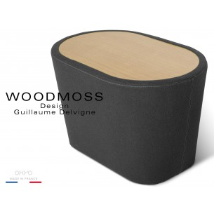 WOODMOSS tabouret ou table d'appoint, couleur anthracite.