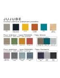 JUJUBE palette couleur piétement et tissu d'assise, au choix.