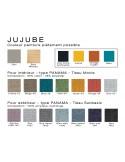 JUJUBE canapé gamme couleur standard et option sur commande avec quantité minimum.