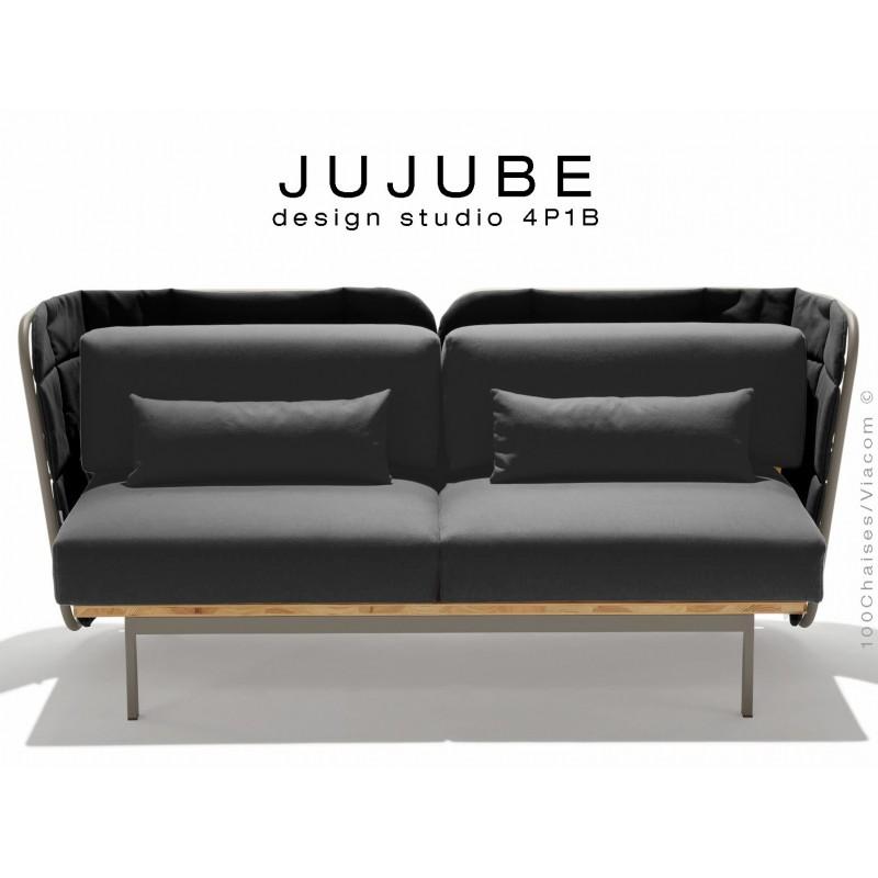 Canapé d'extérieur JUJUBE canapé structure acier, dossier ...