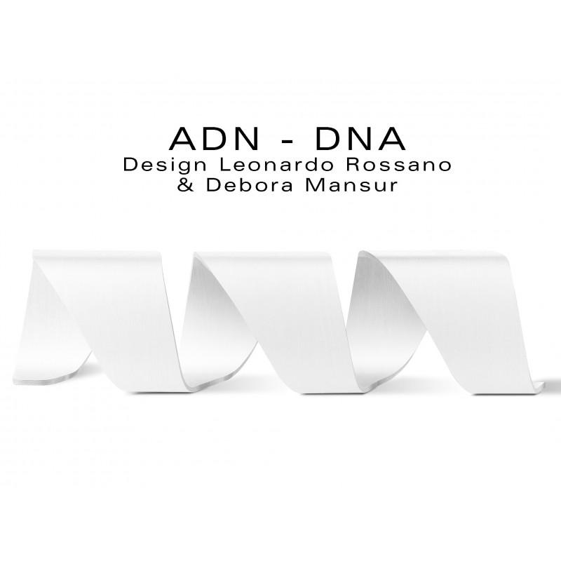 Banc d'attente 3 places - ADN aux formes hélicoïdales en contreplaqué finition peinture blanche