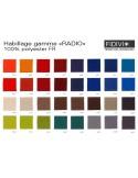 "Fauteuil ARCA habillage 100% polyester, tissu ""Radio"" du fabricant ""FIDIVI""."