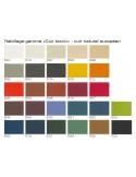 """Fauteuil ARCA gamme couleur habillage cuir naturel bovin européen.icant """"FIDIVI""""."""